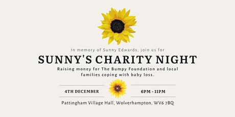 Sunny's Charity Night: raising money for baby loss in the West Midlands. tickets
