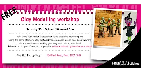 Halloween Witches & Zombies Children's Clay Modelling Workshop  - FREE tickets