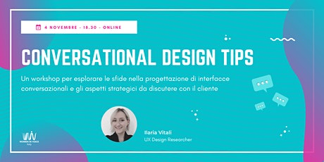 Conversational Design Tips tickets