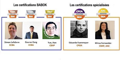Session d'information sur les certifications et  groupe d'étude billets