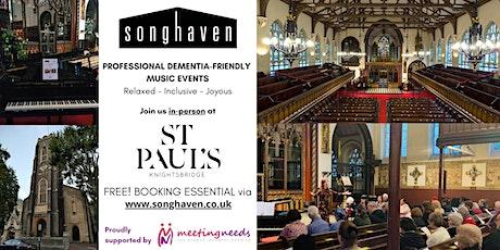 LIVE Songhaven Concert at St Paul's Knightsbridge - Festive Winter Warmer tickets