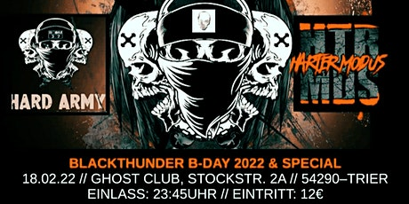 HARD ARMY & HARTER MODUS pres. BlackThunder B-day tickets