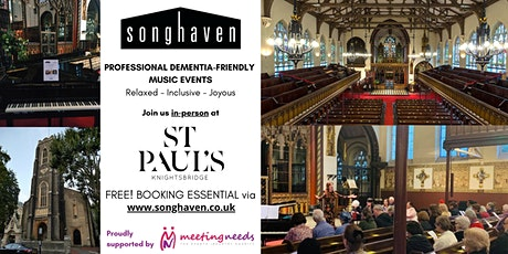 LIVE Songhaven Concert at St Paul's Knightsbridge - January'22 tickets
