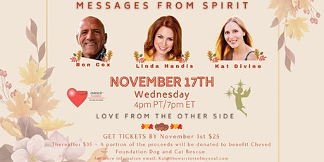 A Time For Giving - Messages From Spirit tickets
