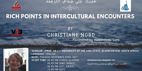 """""""Rich Points in Intercultural Encounters"""" by Prof. Dr. Christiane Nord tickets"""