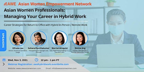Asian Women Professionals: Managing Your Career in Hybrid Work tickets