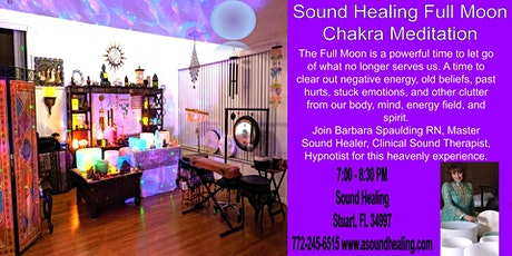 Sound Healing Full Moon Chakra Meditation Sound Bath tickets