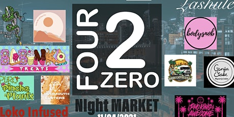 Four 2 Zero Night Market tickets