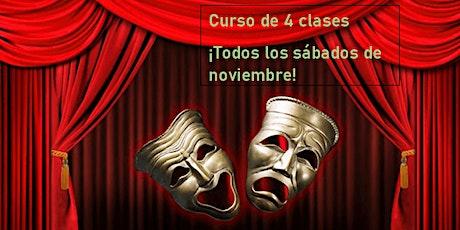 Curso de teatro (4 clases) - taller de actuación en español entradas