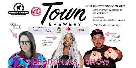 Black Sheep Comedy @ Town Brewery Headliner Edition tickets