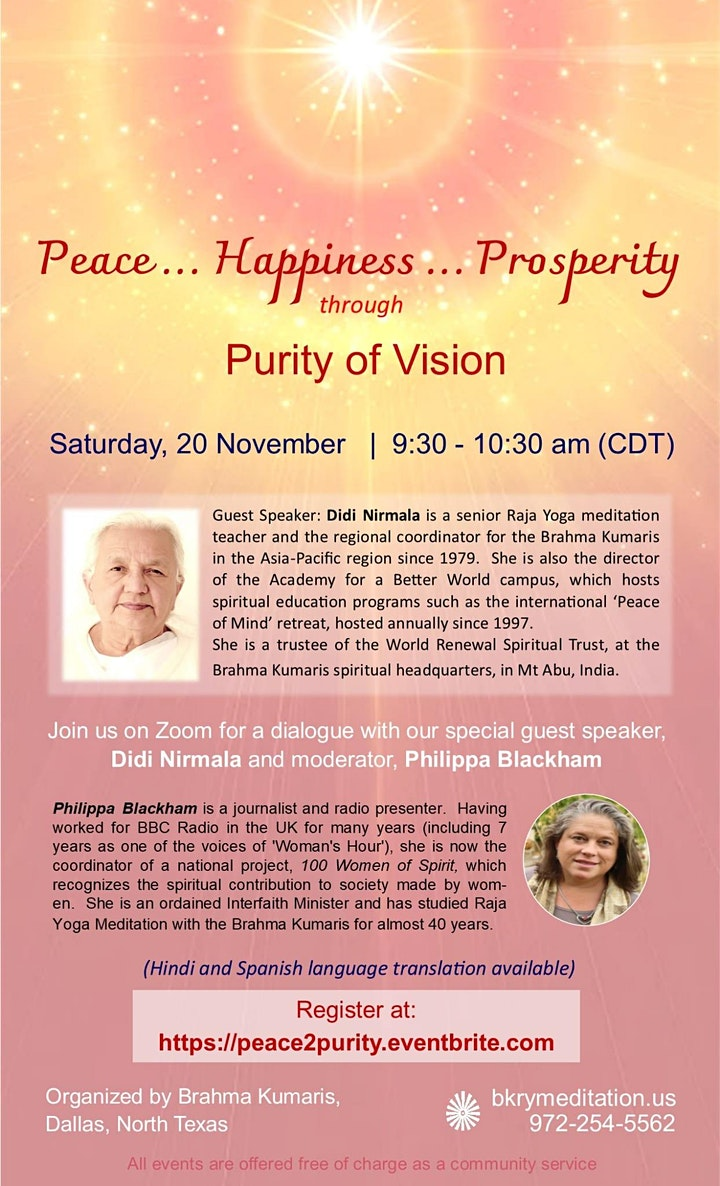 Special Event: Peace...Happiness...Prosperity image