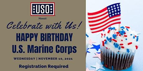 USO Hawaii - USMC Birthday tickets