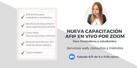 CAPACITACIÓN AFIP - SERVICIOS WEB: CONSULTAS Y TRÁMITES boletos