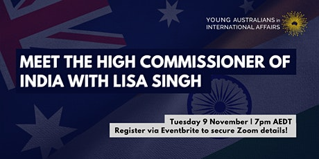 Meet the High Commissioner of India with Lisa Singh tickets