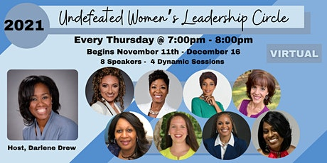 2021 Undefeated Women's Leadership Circle tickets