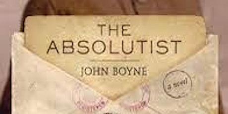 Books Over Brunch  Sunday, Nov. 21st.11am. The Absolutist, John Boyne. tickets