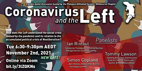 Panel Discussion: Coronavirus and the Left tickets