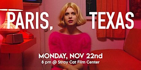PARIS, TEXAS! at Stray Cat Film Center tickets