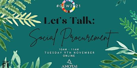 Let's Talk: Social Procurement tickets