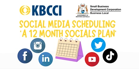 Social Media Scheduling – 'A 12 Month Socials Plan' tickets