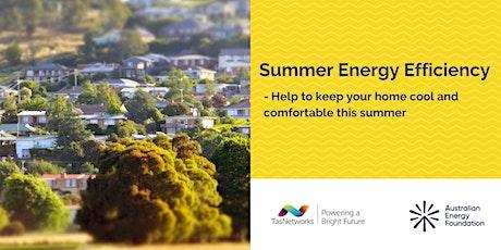 Summer Energy Efficiency - Webinar - TasNetworks bilhetes