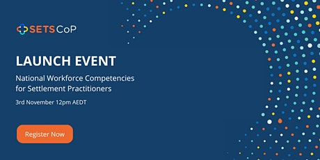 Launch of the Settlement Practitioners Competency Framework tickets