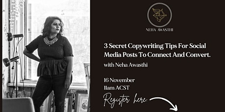 Secret Copywriting Tips to Get Your Social Media Posts to Connect & Convert tickets