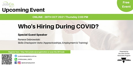 Who's hiring during COVID? tickets