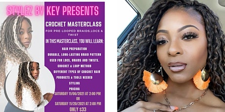Crochet Masterclass for Pre-Looped Braids, Locs & Twist! tickets