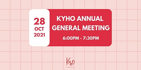 Kick Your Heels Off (KYHO) Society Annual General Meeting 2021 tickets