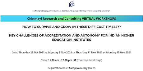 Key Challenges of Accreditation and Autonomy for Indian HEIs tickets
