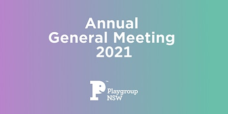 Playgroup NSW Annual General Meeting 2021 tickets