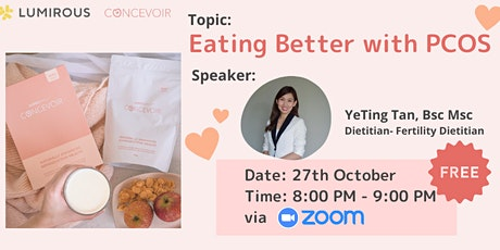 LUMIROUS×CONCEVOIR [Eating Better with PCOS] tickets
