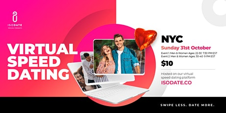 Isodate's NYC Virtual Speed Dating - Swipe Less, Date More tickets