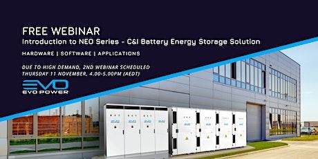 C&I Battery Energy Storage Solution Introduction Webinar (Event 2) biglietti