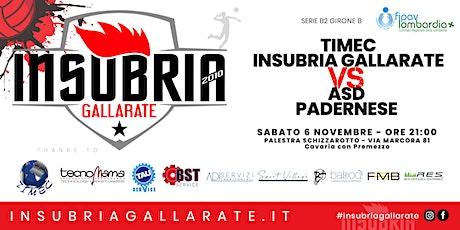 Serie B2 - TIMEC INSUBRIA GALLARATE vs ASD PADERNESE biglietti