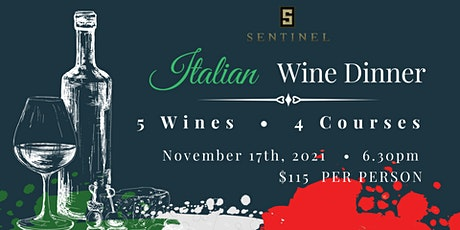Italian Wine Dinner tickets