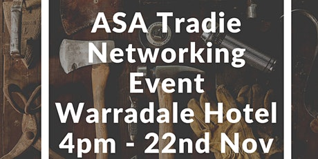 ASA Tradie Networking Event tickets