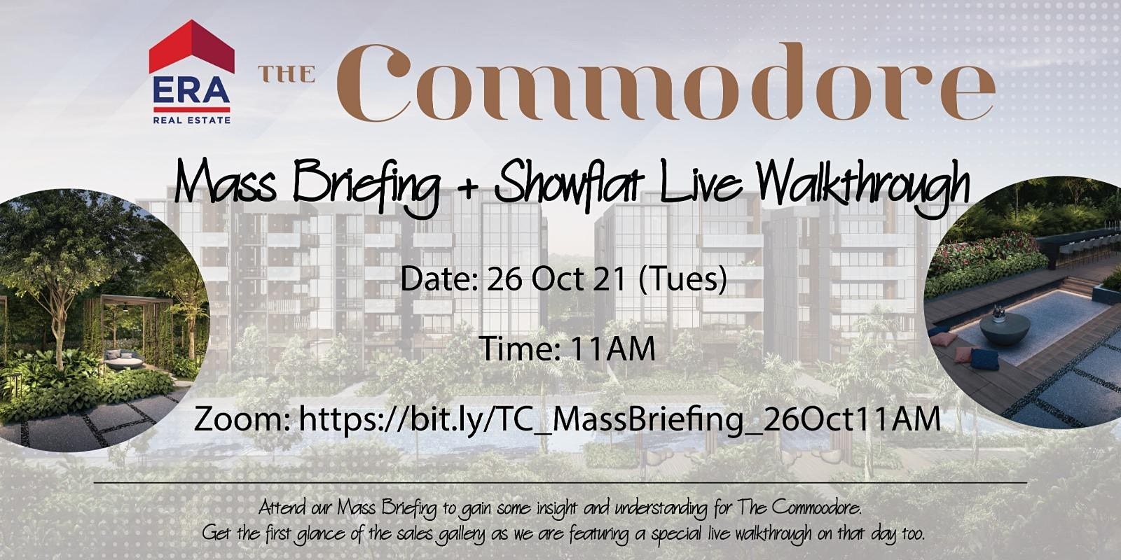 The Commodore Mass Briefing + Showflat Live Walkthrough