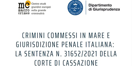 Crimini commessi in mare e giurisdizione penale italiana biglietti