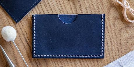 Surplus Leather Card Holder Workshop tickets