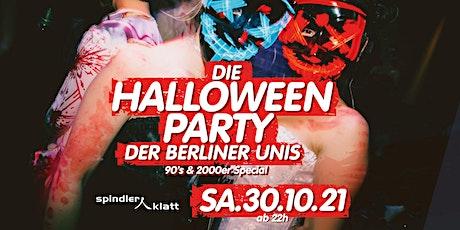 Die Halloween Party der Berliner Unis/ Neue Location: Spindler & Klatt Tickets
