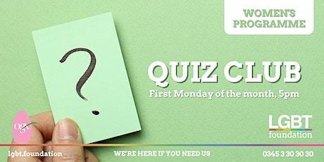 Women's Programme: Quiz Club tickets