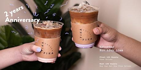 Fika Fika Coffee Arcadia - 2 Year Anniversary Celebration - Free Drinks tickets