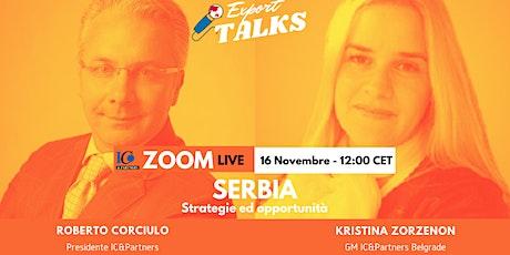 Export Talks - Focus Serbia biglietti