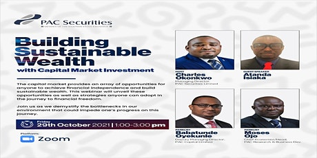 Building Sustainable Wealth With Capital Market Investment tickets