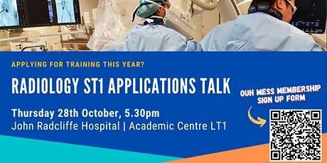 Radiology ST1 Applications Talk tickets