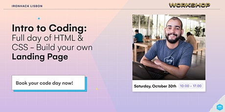 Intro to HTML & CSS - Full day workshop WITH LUNCH bilhetes