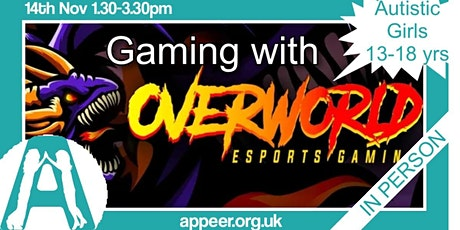 Appeer Autistic Teens -  Overworld Gaming session ( 13-18yrs) tickets