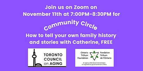 How to tell your own family history and stories with Catherine tickets